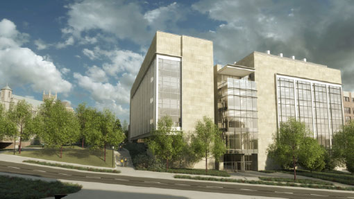 artist's rendering of new building for nanoresearch