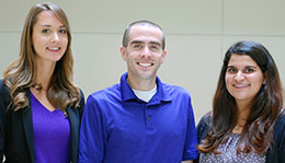 Engineering advisers Lauren Fryhle, Dan Feetham, and Malika Garoui