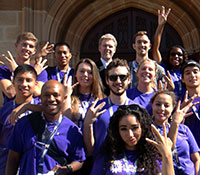 Study Abroad Australia 2014 students showing the Dubs Up at the University of Sydney
