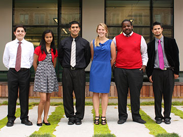 travelling to D.C., from left to right: Kasey Acob, Bailey Bonaci, David Coven, Daniel Corona, Mikael Perla, and Verlanie Rodillas