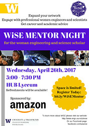 WiSE Mentor Night flyer