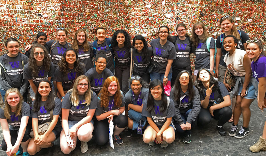 WISE 2017 cohort at gum wall