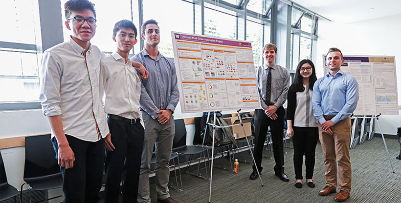 student team at a poster presentation