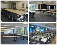 composite image of HUB conference rooms, lyceum, ballrooms