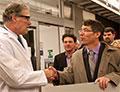 Gov. Inslee shakes hands with Dan Schwartz