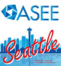 ASEE logo over Seattle conference graphic
