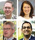 4 thumbnail images. Clockwise from top left: David McDonald, Linda Ng Boyle, John Sahr, Vikram Jandhyala