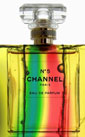 'Aromatic channel' - superimposed perfume bottle over a scientific photgraph