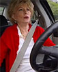 CBS 60 Minutes' Leslie Stahl at the wheel of a hacked car