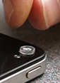 placing a Micro Phone Lens on a smart phone