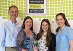 CSE's Ed Lazowska, Crystal Eney, Allison Obourn, and Ruth Anderson with NCWIT trophy