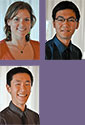 thumbnail images of the three UW Engineering Bonderman fellows