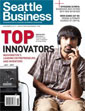 Seattle Business magazine cover image with Shwetak Patel