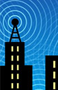 graphic of buildings and ambient signals