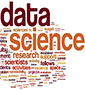 word cloud where 'data' and science' are largest
