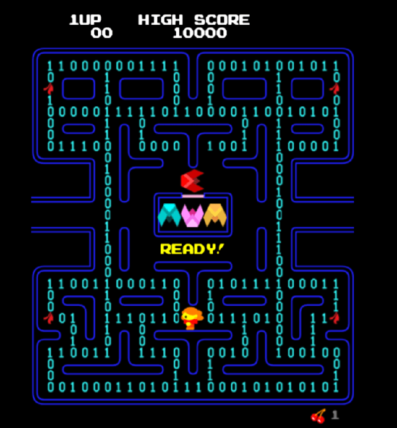 screenshot of pacman