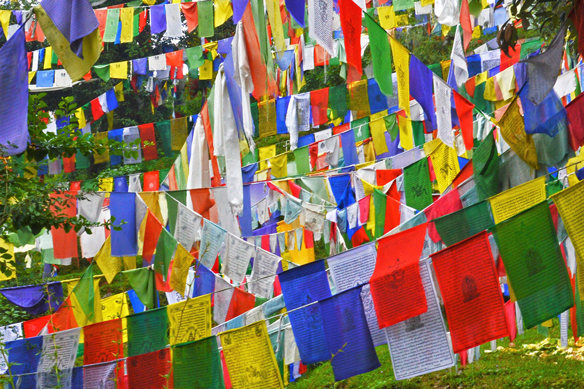 photo of prayer flags