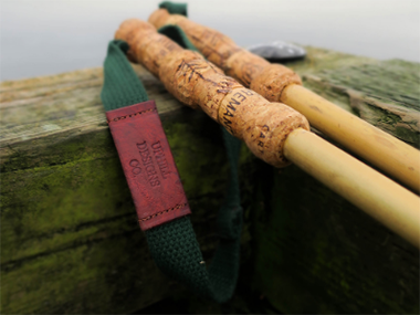 trekking poles made from natural materials by Uphill Designs. Photo: Uphill Designs