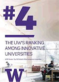 graphic showing UW's #4 worldwide ranking in innovation