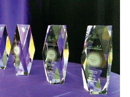 photo, Diamond Awards trophies