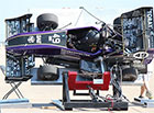 UW Formula SAE car on tilt test at Lincoln competition