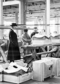 inside Boeing factory in 1922