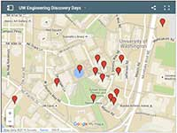 thumbnail version of interactive map of Discovery Days exhibits and parking