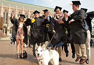 new grads celebrate on Red Square