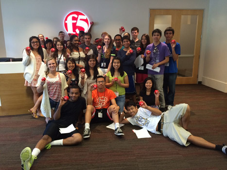 Math Academy visits F5 networks! Thanks for the amazing experience, F5!