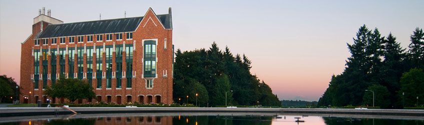 Electrical Engineering Building at sunset