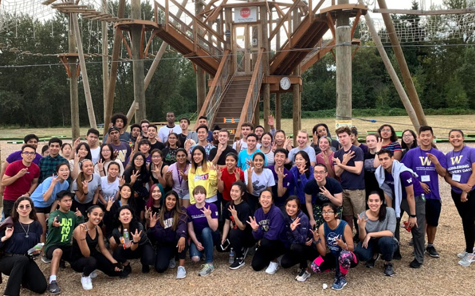 Students visit ropes course