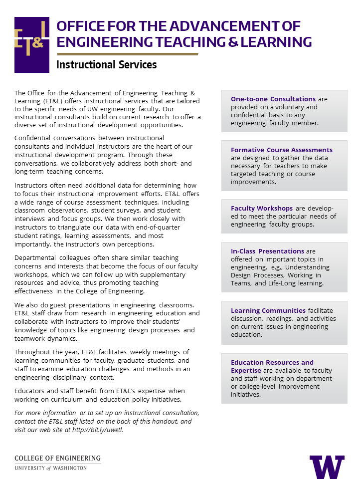 thumbnail of Instructional Services / About Us handout