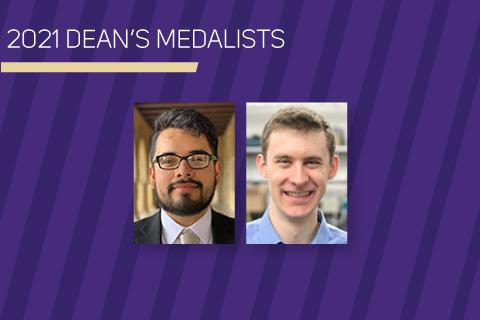 2021 Dean's Medalists - Headshots of two men