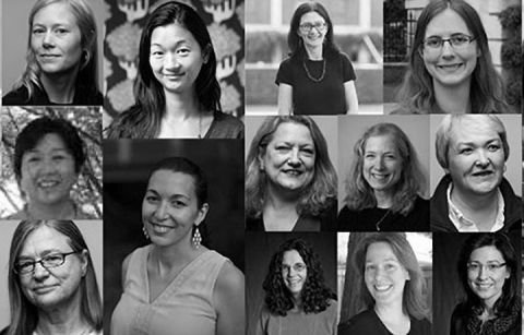 A collage of women faculty