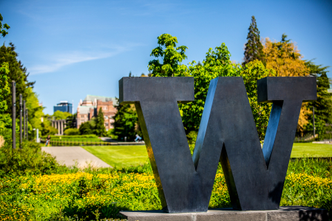 A spring day on the University of Washington campus