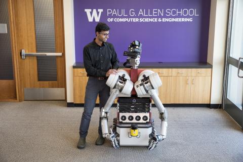 Siddhartha Srinivasa and his robot