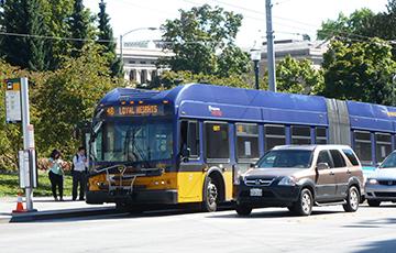 Bus on a street