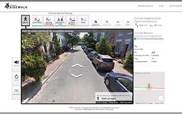 screenshot of Project Sidewalk