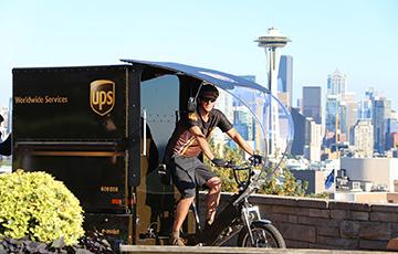 e-bike delivery staff