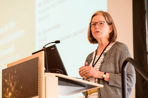 Mary Lidstrom, UW vice provost for research, speaking at the Northwest Quantum Nexus summit