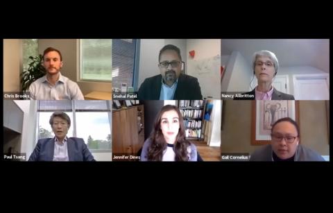 screenshot of the panelists on Zoom