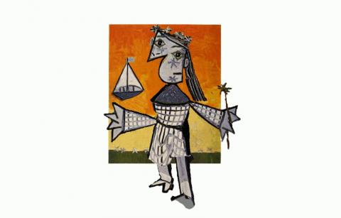 "Picasso's ""Niña con corona y barco"" steps out of the frame"