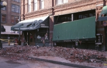 earthquake damage to brick building