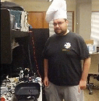 A CSE member in a chef's hat